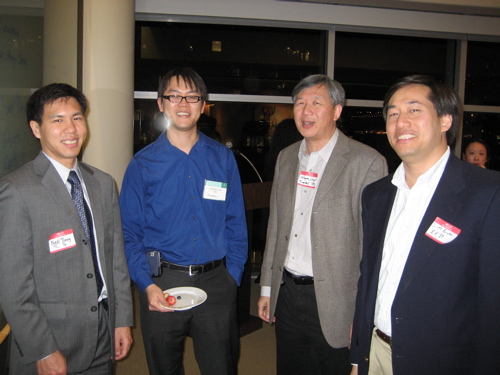 Wayne Lew '72, Scott Bowker '89, Neill Tseng '96, and Vincent Law '00