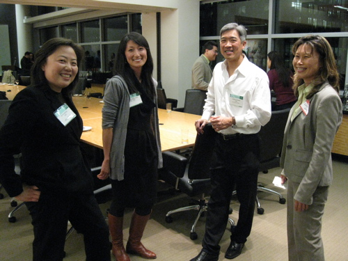 Ruth Kwon '98, Shannon King '99, Harry Chang '84, Lulu Wong