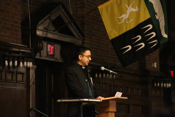 Keynote speaker Vijay Iver (photo by M. Lee)