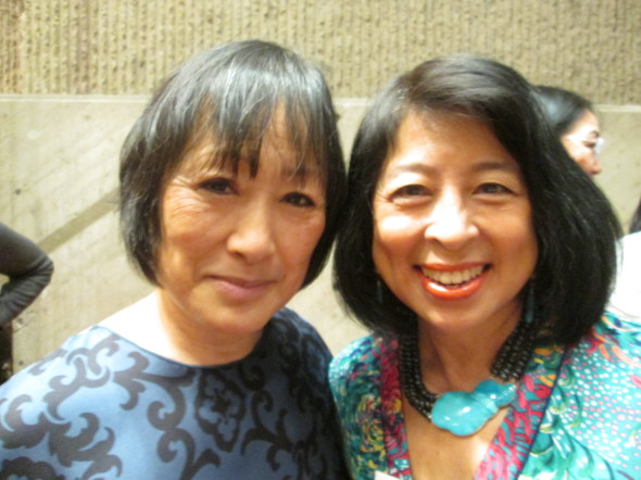 First class of Yale women holding up their half of the sky: architect Billie Tsien and international lawyer Alice Young (photo by J. Wong)