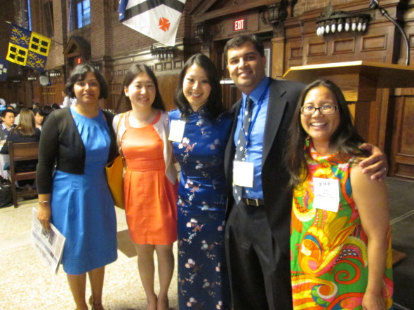 Yale Asian Alumni Reunion Steering Committee members: Saveena Dhall, Sarah Tomita, Kelly Cheng, Gaura Khanna, and Julie Wong (photo by J. Wong)