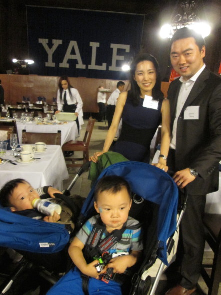 The Next Generation: Jinwoo Chung and two of the youngest attendees (photo by J. Wong)